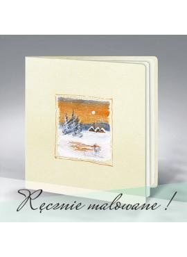 Kartka Świąteczna Ręcznie Malowana 8