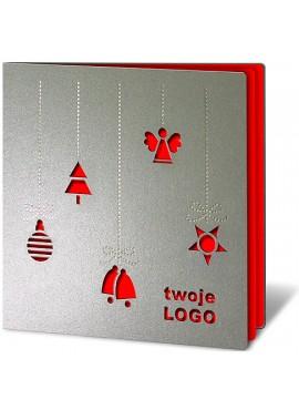 Kartka Świąteczna z Motywami Świątecznymi Wyciętymi Laserowo FS130s