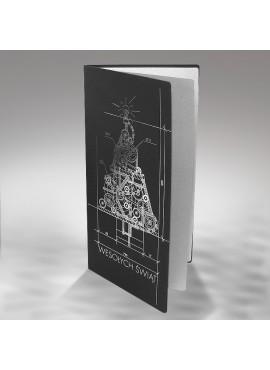 Kartka Świąteczna z Oryginalną Techniczną Choinką FS321ag