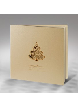 Kartka Świąteczna z Wyciętą Laserowo Choinką FS362p
