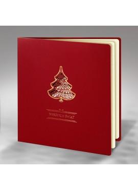 Kartka Świąteczna z Motywem Choinki Wyciętej Laserowo FS362bg