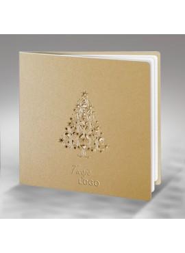 Kartka Świąteczna z Choinką Wyciętą Laserowo FS394p