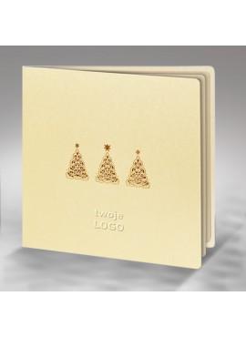 Kartka Świąteczna z Trzema Małymi Choinkami FS400tz
