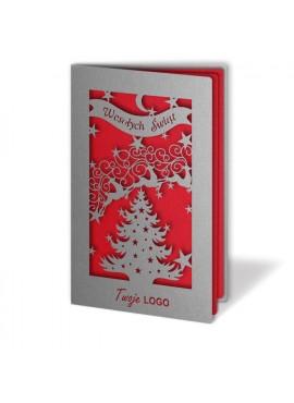 Kartka Świąteczna Bogato Ozdobiona w Motywy Świąteczne FS289s