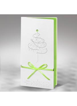 Kartka Świąteczna z Motywem Świątecznego Drzewka FS325tb