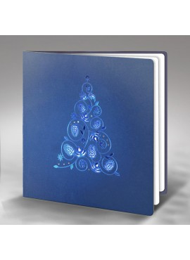 Kartka Świąteczna z Motywem Choinki FS251nm