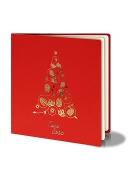 Kartka Świąteczna z Oryginalną Złotą Choinką FS251cg