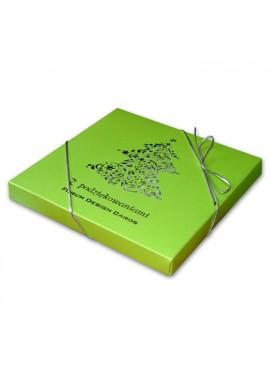 Kartka Świąteczna w Formie Pudełka z Choinką Wyciętą Laserowo FS271za