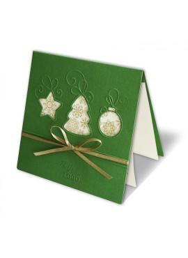 Kartka Świąteczna z Trzema Bombkami w Różnych Kształtach FS328z