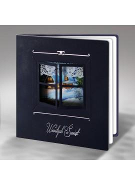 Kartka Świąteczna Okno z Bajkową Scenerią FS333gg