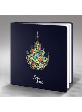 Kartka Świąteczna z Bogato Ozdobioną Choinką FS375gg