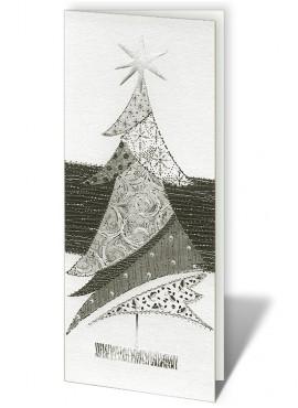 Kartka Świąteczna z Motywem Oryginalnej Choinki CFB0017
