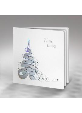 Kartka Świąteczna Choinka ze Wstążki FS345tb