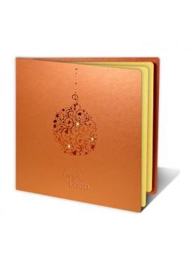 Kartka Świąteczna z Bombką w Kolorze Miedzianym FS396m