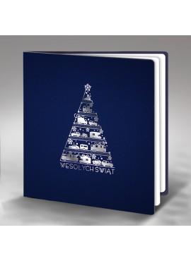 Kartka Świąteczna Oryginalna Choinka z Samochodów FS443ng