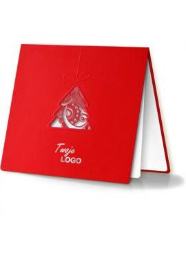 Kartka Świąteczna z Motywem Bombki w Kształcie Choinki FS241cg