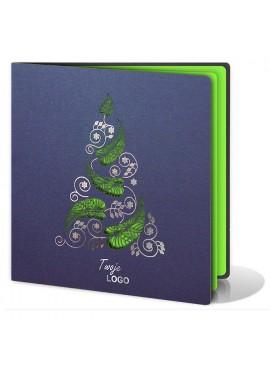 Kartka Świąteczna ze Wzorem Oryginalnej Choinki FS268i