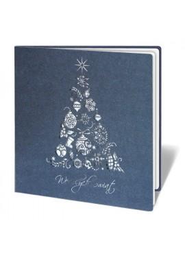 Kartka Świąteczna Choinka z Ozdobnych Elementów Świątecznych FS232g