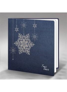 Kartka Świąteczna Śnieżynki i Gwiazdki FS852g