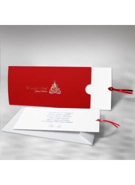 Kartka Świąteczna z Choinką w Formie Kieszonki FS404cg