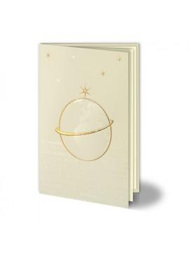 Kartka Świąteczna z Kulą Ziemską oraz Gwiazdami 011460W