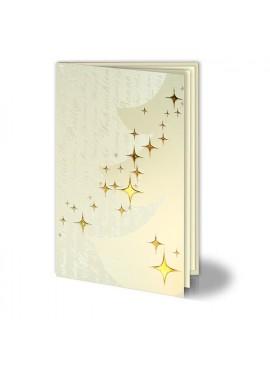 Kartka Świąteczna z Wytłoczoną Częścią Choinki oraz Gwiazdkami 011468W