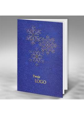 Kartka Świąteczna ze Złotymi Śnieżynkami FT7507b