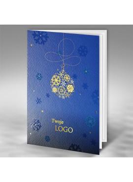 Kartka Świąteczna Bombka ze Złotych Śnieżynek FT7514b15