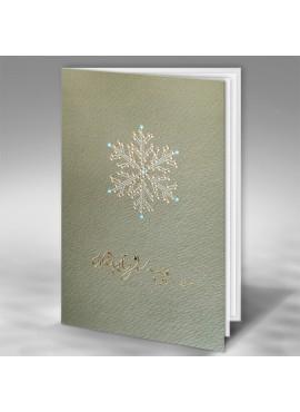 Kartka Świąteczna z Nowoczesnym Motywem Śnieżynki FT7500br15