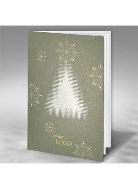 Kartka Świąteczna z Nowoczesnym Motywem Choinki FT7501gr