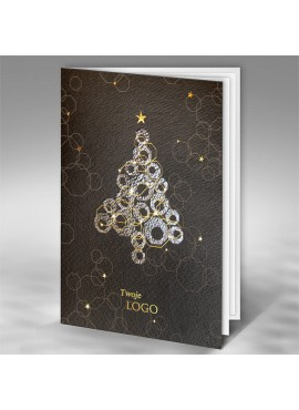Kartka Świąteczna z Oryginalnym Wzorem Choinki FT7509