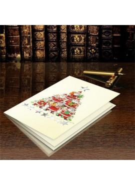 Kartka Świąteczna Choinka z Mikołajów CFB002.058.12703