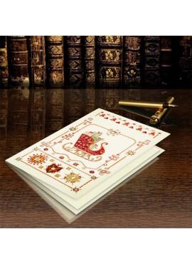 Kartka Świąteczna z Saniami Mikołaja CFB002.040.12759