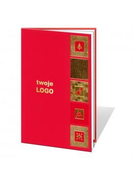 Kartka Świąteczna ze Złoconymi Motywami Świątecznymi 011346wr