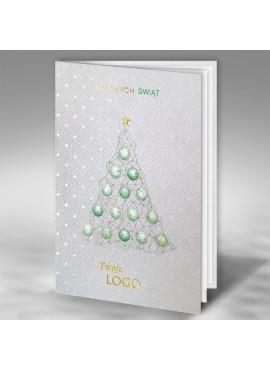 Kartka Świąteczna Motyw Choinki z Misternym Złoceniem FT7502x15