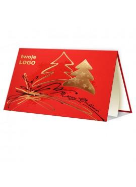 Kartka Świąteczna z Nowoczesnym Motywem Świątecznym 011358wr