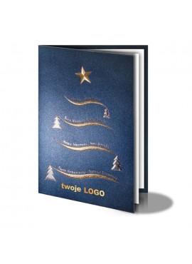 Kartka Świąteczna z Falowaną Choinką 010896l