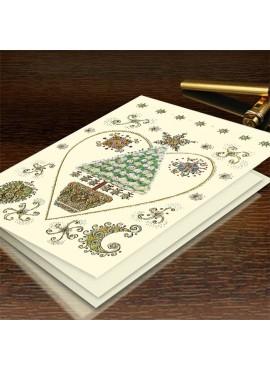 Kartka Świąteczna z Bogato Zdobionymi Wzorami Świątecznymi CFB002.070.11973