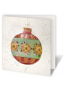 Kartka Świąteczna z Bogato Ozdobioną Dużą Bombką CFB005.067.12870