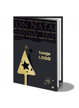 Kartka Świąteczna ze Złoconym Motywem Świątecznym 011345b