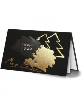 Kartka Świąteczna ze Złoconymi Wzorami Świątecznymi 011367b