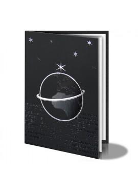 Kartka Świąteczna z Kulą Ziemską oraz Gwiazdami 011460b
