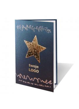 Kartka Świąteczna z Dużą Złotą Gwiazdą 011350l