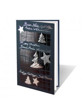 Kartka Świąteczna ze Srebrnymi Motywami Świątecznymi 011363is