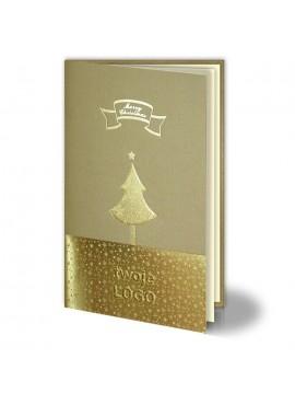 Kartka Świąteczna ze Złotymi Wzorami Świątecznymi 011352g