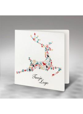 Kartka Świąteczna z Motywem Renifera z Elementów Świątecznych FS736