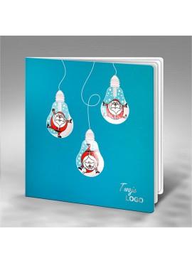 Kartka Świąteczna z Zabawnym Motywem Świątecznym FS711