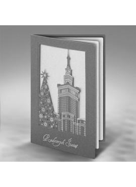 Kartka Świąteczna z Budynkiem Pałacu Kultury i Nauki w Warszawie FS415s