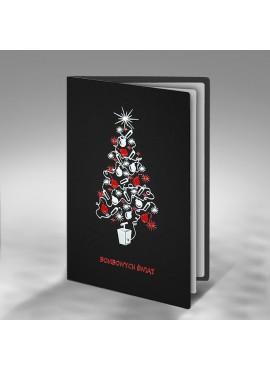 Kartka Świąteczna z Motywem Bombowej Choinki FS421ag