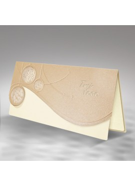 Kartka Świąteczna z Trzema Bombkami Wyciętymi Laserowo FS402p